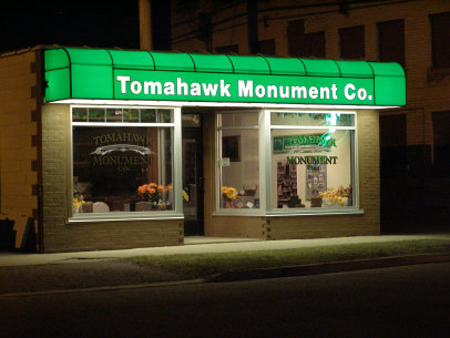 Tomahawk Monument Co in Tomahawk Wisconsin
